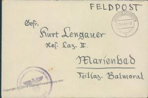 3rd Reich Hospital Donaueschingen Feldpost 46692