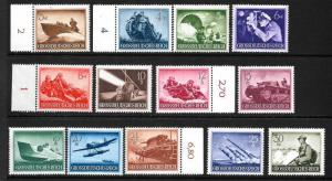 GERMANY  1944  ARMED FORCES  MNH  SET 13  SG 861/73