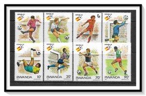 Rwanda #1095-1102 World Cup Soccer Set MNH
