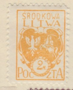 Central Lithuania Mittellitauen Lituanie Lituania 1921 2m MH* A8P11F137