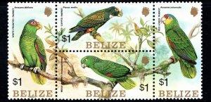 Belize SC739 Blk.Of4 Parrots MNH 1984