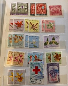 STAMP STATION PERTH Nicaragua Collection in Album 275+ stamps Mint/Hinged