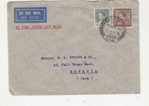 IRAQ, 1936 Airmail cover, Basrah to Neth. East Indies, 5f., & 50f
