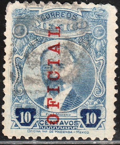 MEXICO O120, ISSUE OF 1918. Used. VF.  (880)