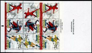 HERRICKSTAMP ALAND Sc.# 316e Superheroes Tete Beche Stamp Booklet