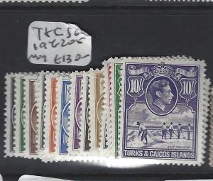 TURKS AND CAICOS  (P2305B)  KGVI  SET SG 194-205   MOG