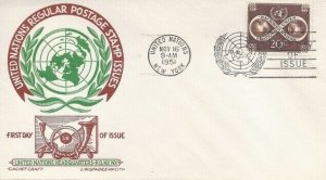 UN #8 20c REGULAR ISSUE FDC 1951 - CC - Ludwig Staehle