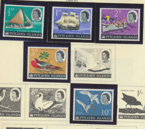 Pitcairn Islands Stamp Scott #39//46, Mint Never Hinged, Short Set of 5 Issue...