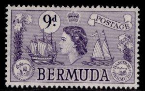 BERMUDA QEII SG143b, 9d violet, M MINT. Cat £14.