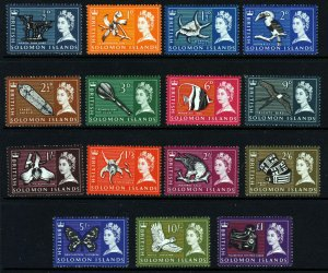 SOLOMON ISLANDS QE II 1965 The Full Pictorial Set SG 112 to SG 126 MNH