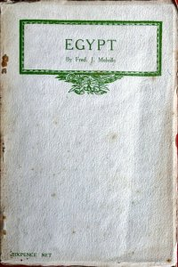 1915 EGYPT by Fred Melville - Classic Philatelic-Literature