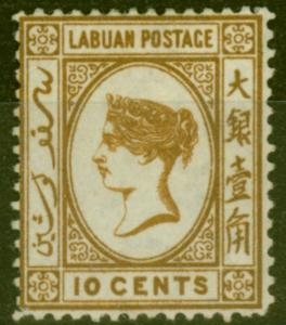 Labuan 1880 10c Brown SG8 Fine & Fresh Unused