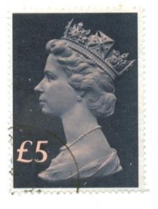 Great Britain  Sc MH176 1977 £5 Machin Head stamp used