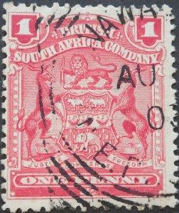 Rhodesia 1898 1d with NAMWALA (Sq Circle) postmark