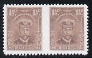 Southern Rhodesia 1924-29 KG5 Admiral 1.5d brown horizont...