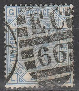 Great Britain #68 Plate 19 F-VF Used CV $65.00  (A2990)