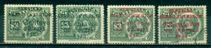 Guatemala #C8-C11 Short set  Mint & Used  Scott $4.10
