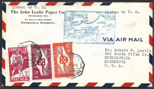 Doyle's_Stamps: Quality 1939 First Flight Cover Portugal to USA