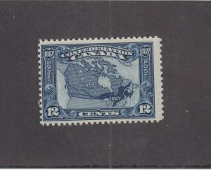 CANADA (MK3408) # 145  F-MNH  12cts 1867-1927 MAP OF CANADA /DARK BLUE CAT $30