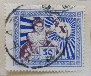 A11P5F61 Litauen Lituanie Lithuania 1928 50c used