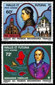 Wallis & Futuna Islands 1978 Scott #C80-C81 Mint Never Hinged