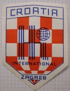 Croatia Team Football Soccer badge logo ZAGREB HI Intl Poster sticker Label ad