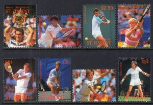 St Vincent Grenadines Bequia 260-67 Tennis MNH VF