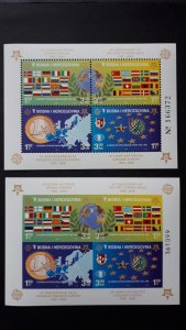 50th anniversary of EUROPA stamps - Bosnia and Herzegovina Bl perf+imperf ** MNH
