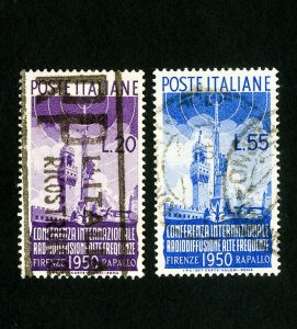 Italy Stamps # 538-9 VF Used Scott Value $96.00