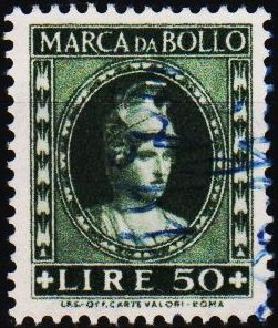 Italy. Date? 50L (Marca Da Bollo).Fine Used