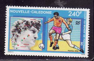 New Caledonia-Sc#637-unused NH-World Cup Soccer-Italy-Sports