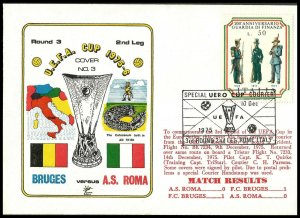 1975 Bruges V AS Roma UEFA Cup Commemorative First day Cover