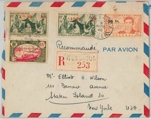 45104 - AOF MAURITANIA / NIGER -  POSTAL HISTORY: REGISTERED COVER from Tessaoua
