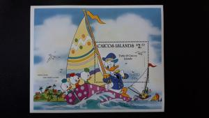 Disney - Caicos Islands 1984. - Easter ** MNH Block