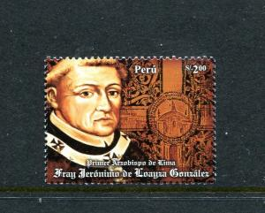 Peru 1665, MNH, First Archbishop of Lima 2008. x29688