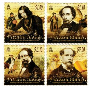 Pitcairn Islands - Charles Dickens - 4 Stamp Set - PIT1208C