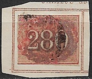 1861 Brazil 39 used on album page paper.