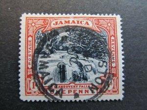 A4P20F5 Jamaica 1900-01 Wmk Crown CC 1d used