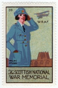 (I.B) Cinderella Collection : The Scottish War Memorial (WRAF)