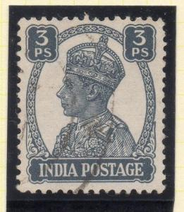 India 1940-43 Early Issue Fine Used 3p. 050743