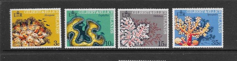 Gilbert & Ellice Islands MNH 199-202 Marine Life