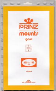 Prinz SCOTT Stamp Mount 135/265 BLACK Background Pack of 5