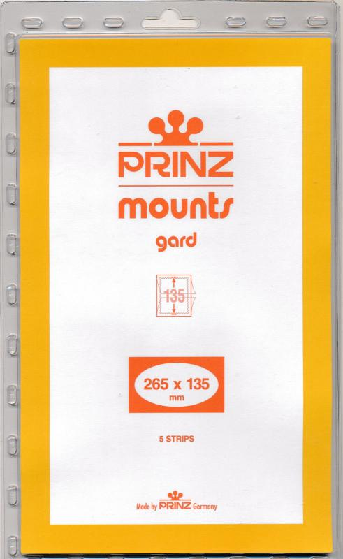 Prinz Stamp Mount 135/265 CLEAR Background Pack of 5