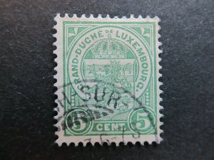 A4P26F36 Letzebuerg Luxembourg 1906-26 5c used