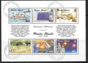 PITCAIRN ISLANDS SG389a 1990 SETTLEMENTS FINE USED