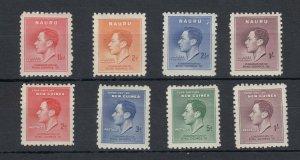 Nauru New Guinea KGVI 1937 Coronation Sets x 2 MLH J9830