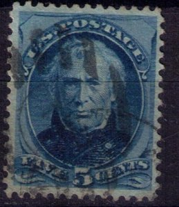 US Scott #179 Used Nice Dark Blue ShadeVery Fine