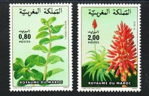 1984 - Morocco - Maroc- Flowers - plants- Fleurs- Plantes - Compl.set 2v.MNH**
