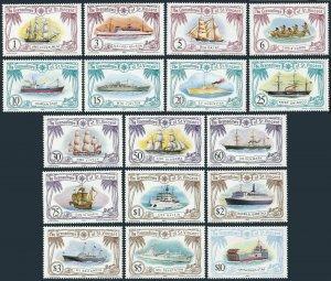 St Vincent Gren 222-238,MNH.Michel 223-239. Ships 1982.Experiment,Lady Nelson,