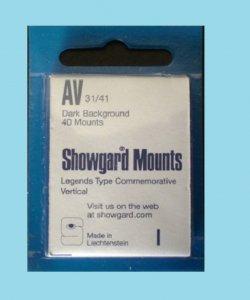 Showgard Mounts 31/41mm (40ea Black) (00511B)